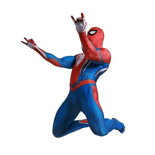 JHDUID Spiderman Traje Traje Adulto Niños del Partido Negro ...