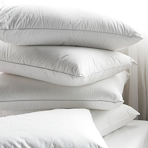 4 Pack 100% Cotton Down-Alternative Hypoallergenic Bed Sleeping Pillow - Made In USA (Queen)
