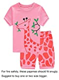 #3: Family Feeling Deer Little Girls' Short Pajamas 100% Cotton Clothes 6M- 14Years