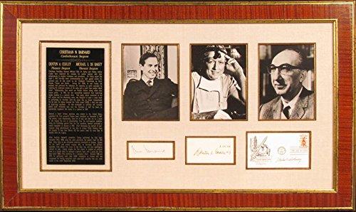 Dr. Michael E. Debakey - Collection co-signed By: Dr. Denton A. Cooley, Christiaan Barnard
