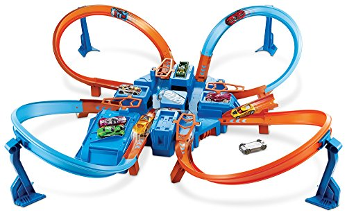 Cool Hot Wheels Criss Cross Crash Track Set For Boys