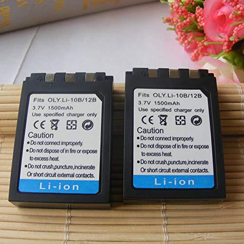 FidgetFidget Battery +Charger 2pk Li-10B Battery Pack Li-10C for Olympus Stylus 300 3.2 MP Digital Camera New
