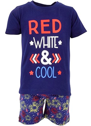 Unique Baby Boys Red, White & Cool 2 Piece 4th of July Outfit (5) by Unique Baby