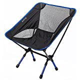 Sunvp Portable Ultralight Heavy Duty Folding Chair for Outdoor Activities/Camping/Hiking, Weight Capacity: 230lb (Dark Blue)