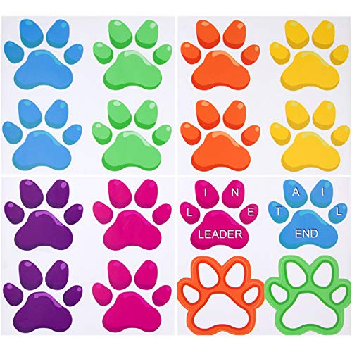Paw Shaped Prints Floor Decals Stickers for Classroom Home Party - Vinyl Floor Decal