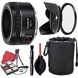 Canon EF 50mm f/1.8 STM Lens + Accessory Bundle