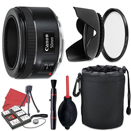 Canon EF 50mm f/1.8 STM Lens + Accessory Bundle