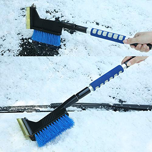 2in1 Winter Car Ice Scraper Snow Brush Retractable Window Shovel Removal Brush