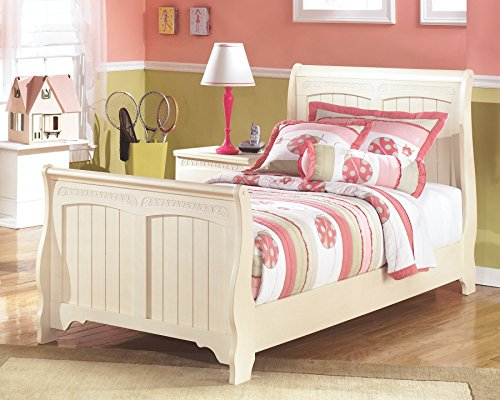 Ashley Furniture Signature Design - Cottage Retreat Casual Sleigh Bedset - Twin Size Bed - Cream White by Ashley Furniture (Image #2)