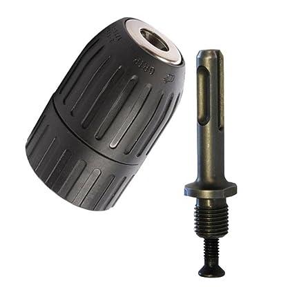Yakamoz 2-13mm Professional Heavy Duty 1//2-20 UNF Quick Change Keyless Drill Chuck Tool with 1//2 SDS Adaptor