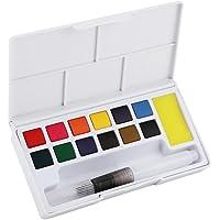 Acuarela Pintura Sólidos Pigmentos Arte Profesional Colores de Agua Set Variedad de Paleta Perfecta para Pintar Dibujo Colorido Dibujo de Campo Doodling(12 Colores)