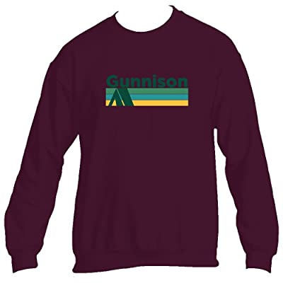 Tenn Street Goods Gunnison Retro Camping - Colorado Men's Crewneck Sweatshirt