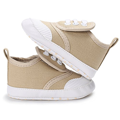 Save Beautiful Toddler Baby Girls Boys Shoes Infant First Walkers Sneakers (6-12months, A-khaki)