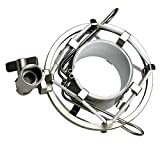 ZRAMO Silver Spider Universal Microphone Shock Mount Holder Adapter Clamp Clip for AT2020 USB PR40 RE20 AT4033a AT2050 Large Diameter Studio Condenser Mic