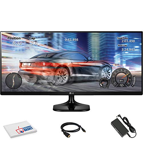 """LG 25UM58-P 25"""" 21:9 UltraWide IPS Monitor (25UM58-P) with HDMI Cable and Microfiber Cleaning Cloth"""