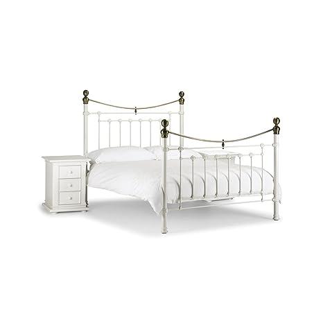 Piedra Blanco Reina doble Metal marco de la cama – Entrega GRATIS al día siguiente