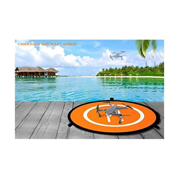 WisFox Drone Landing Pad Impermeabile 75cm Atterraggio Pieghevole Portatile per Elicotteri RC Drone 7 spesavip