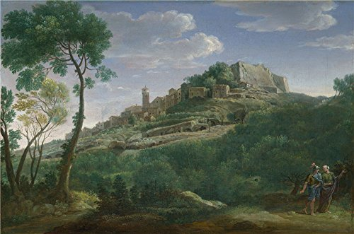 The Perfect Effect Canvas Of Oil Painting 'Hendrik Frans Van Lint A Landscape With An Italian Hill Town ' ,size: 24 X 36 Inch / 61 X 92 Cm ,this Amazing Art Decorative Prints On Canvas Is Fit For Nursery Decor And Home Gallery Art And Gifts (Hampton Beach Stand Mixer compare prices)