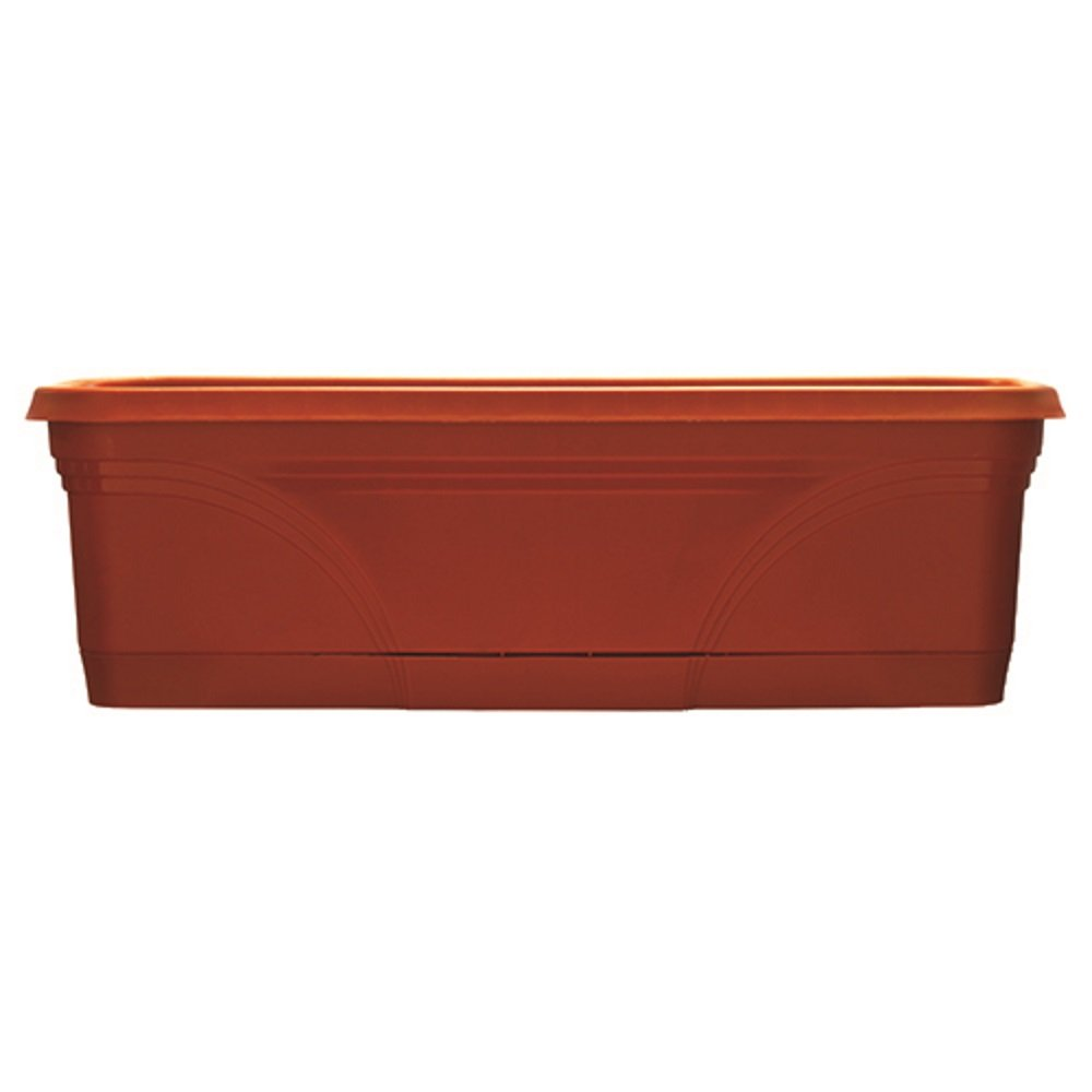 Southern Patio 24'' Medallion Window Box, Terra Cotta by Southern Patio