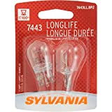 SYLVANIA 7443 Long Life Miniature Bulb, (Pack of 2)