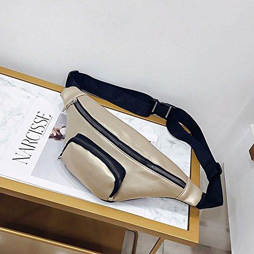 Sac pour nbsp;– Simili Banane Champagne doré Sport Femme Shopping Seule Mode nbsp;Jaune Cuir Pratique épaule d'être Coffre est de beiguoxia Marron pqan16zq