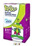 Kandoo Kids Flushable Wipes Refill, Potty Training Cleansing Cloths, Magic Melon, 250 Count (Pack of 4)
