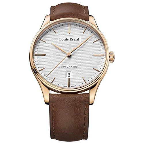 Louis Erard Men's Heritage 41mm Brown Leather Band Rose Gold Plated Case Automatic Watch 69287PR31.BVR01