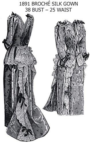 1891 Broché Silk Gown Pattern