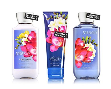Freesia Body Spray - Bath & Body Works Freesia Body Cream, Shower Gel and Body Lotion Gift Set