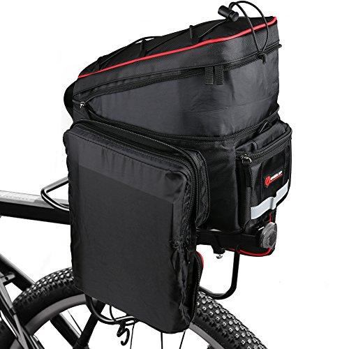 Fahrradtasche Gepäckträger Gepäckträgertasche Radtasche Fahrrad Seitentasche Kann Verlängert Multifunktions Wasserdicht 26L Schwarz