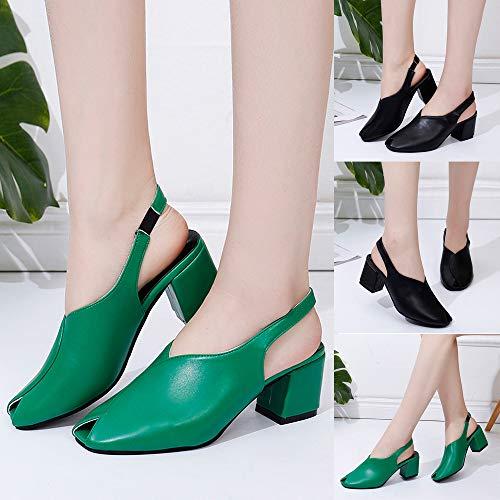 Bande Cheville Chaussures Femmes ballerines Vert La Hauts Femme Soirée De Pour Poisson À Talons Sandales Élastique bande 6z4rS6
