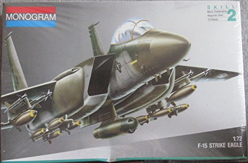 Monogram SnapTite F-15 Strike Eagle 1:72 Scale Model (F15 E Strike Eagle)