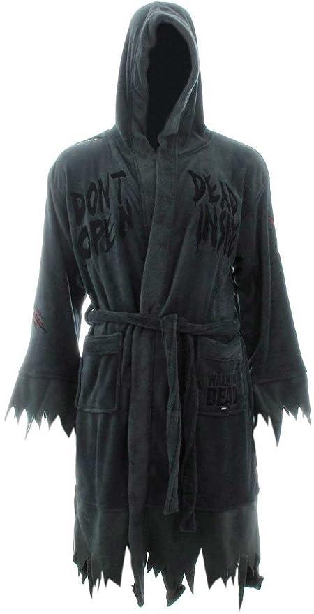 648d3a3a109f Amazon.com  The Walking Dead Mens Don t Open Dead Inside Fleece Sleepwear Long  Robe Gray O S  Home   Kitchen