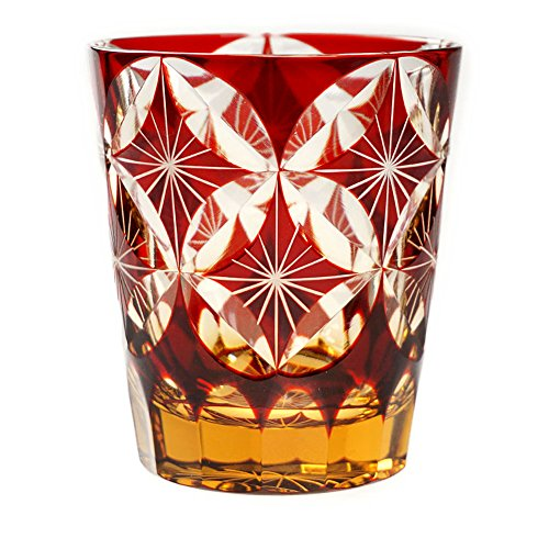 Tumbler Drinking Glass Kiku-Shippo Traditional for Mother's Day