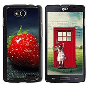 LECELL -- Funda protectora / Cubierta / Piel For LG OPTIMUS L90 / D415 -- Strawberry --