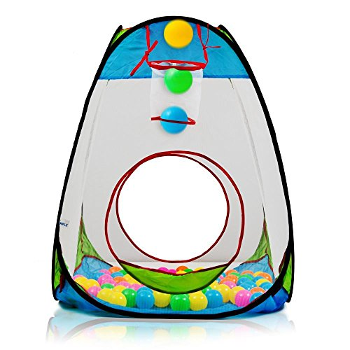 """Children's Pop Up Playhouse Tent with Set of """"100 Colorfu..."""