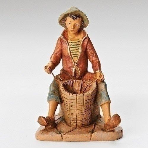 Fontanini Allon the Basket Weaver Italian Nativity Villager Figurine 54077 Italy (The Basket Weaver)