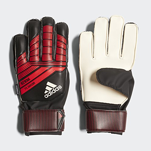 adidas Predator Junior Soccer Gloves,Black/Red,Size 8