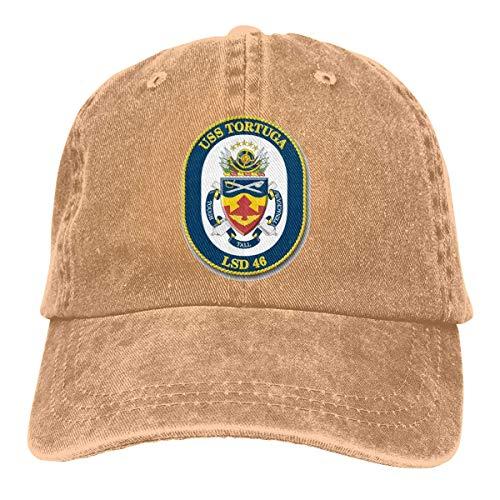 (Navy USS Tortuga LSD-46 Vinyl Transfer Vintage Baseball Cap Trucker Hat for Men and Women)