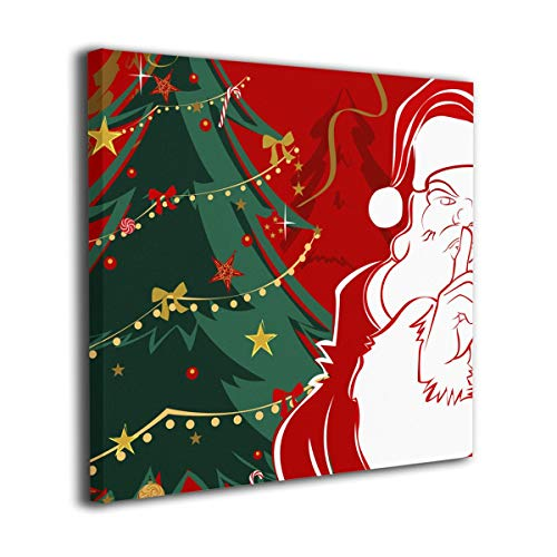 WONDER 4 Christmas Santa Modern Wall Decor/Home Decor Canvas Wall Art Stretched and Ready to Hang