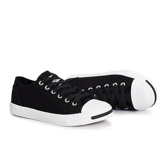 parejas de lona/Zapatos de encaje de corte de bajo blanco/ reír zapatos ocasionales-B Longitud del pie=22.3CM(8.8Inch) 8bWfz5vCoI
