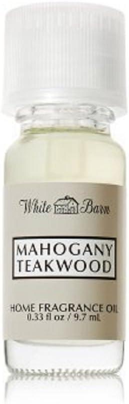 Bath and Body Works White Barn Mahogany Teakwood Home Fragrance Oil.33 Ounce