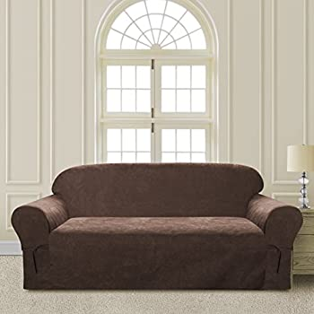 CLEAR OUT SALE Elegant And Comfortable Pu0026R Bedding Microsuede Sofa Furniture  Slipcover (Brown, Sofa)