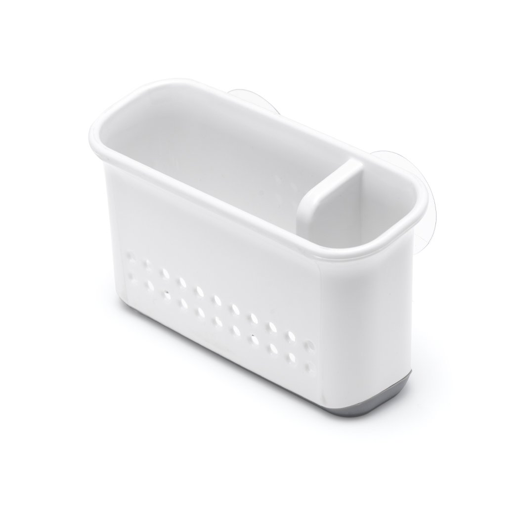 Addis 517765 Premium Sink Side Organiser with Suction Pads, White/Grey, 0.6 x 0.9 x 15.5 cm