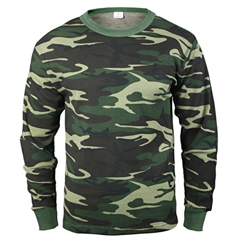 Rothco Thermal Top, Woodland Camo, Medium ()