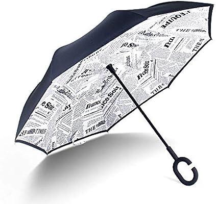Paraguas al revés Paraguas plegable al revés Paraguas autoportante ...