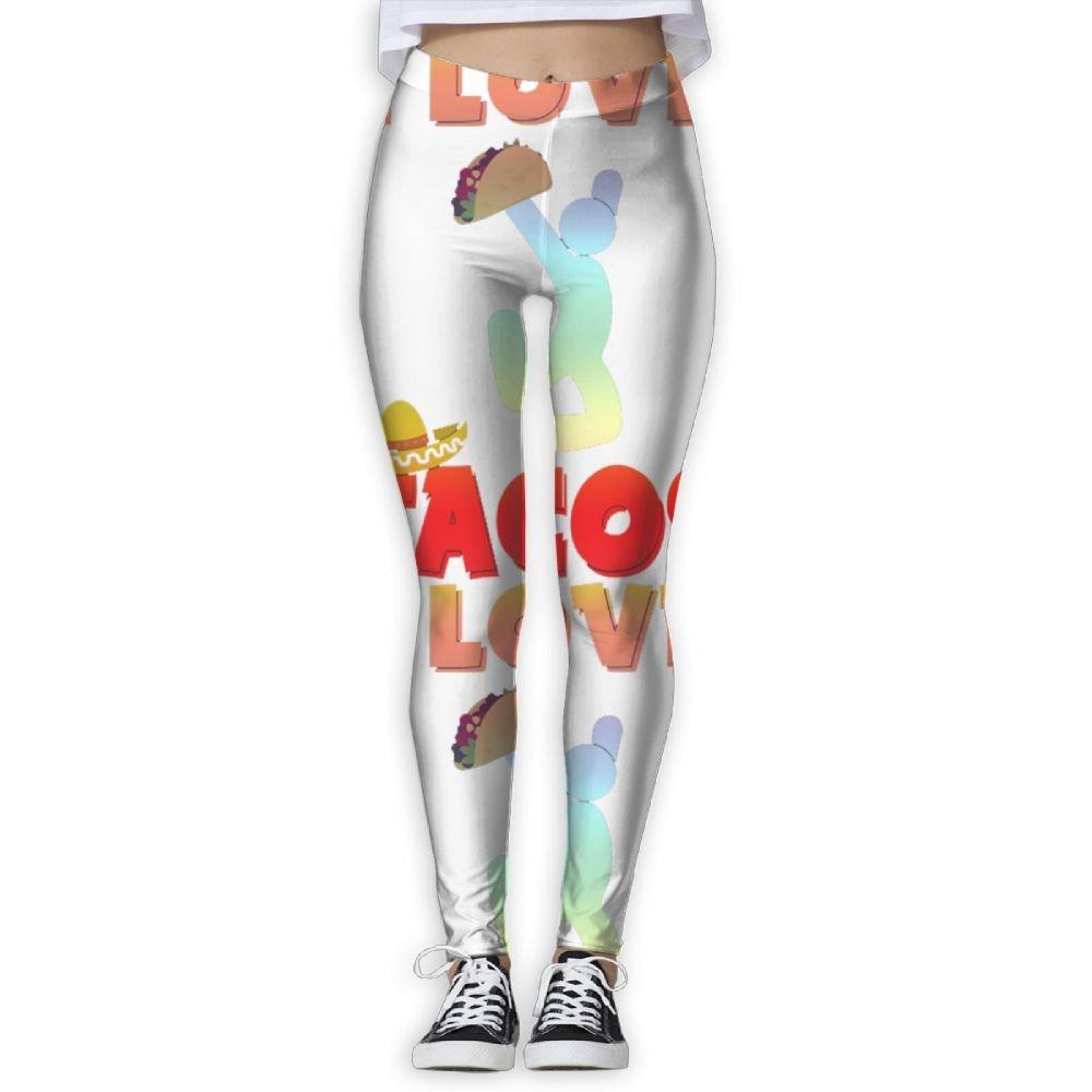 I Love Tacos Elastic High Waist Yoga Leggings For Women at ...