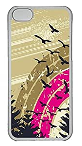 iPhone 5C Case Abstract Geese PC Custom iPhone 5C Case Cover Transparent