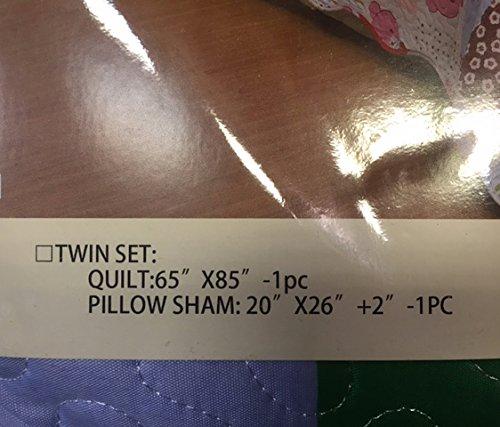 2 Piece Twin Size Blue, Brown, Sports Children Boys Twin Bedspread