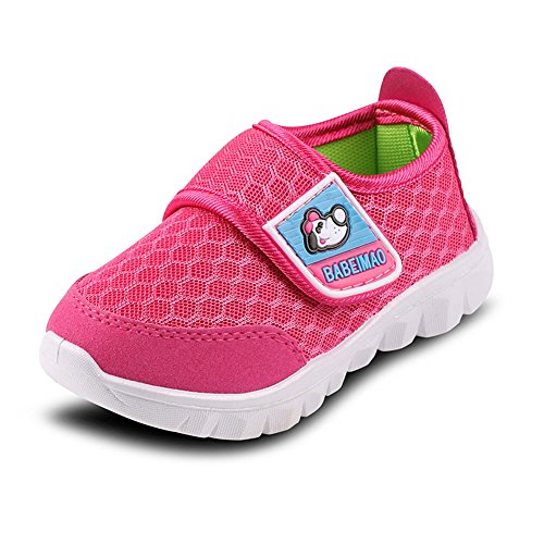 SENFI Kids Breathable Mesh Lightweight Walking Shoes Running Sneakers (Little Kid/ (Little Girl Walking)
